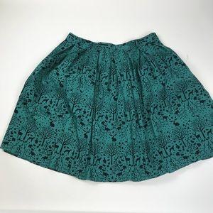 Hell Bunny Green Sherwood High Waist Swing Skirt
